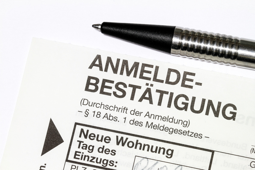 landlord's confirmation of residence Wohnungsgeberbestaetigung