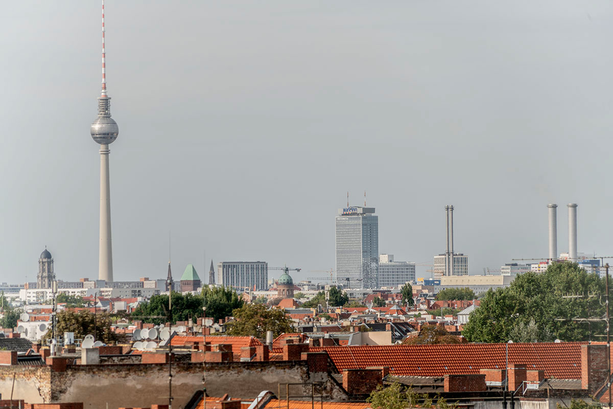 view from Klunkerkranich on Neukölln