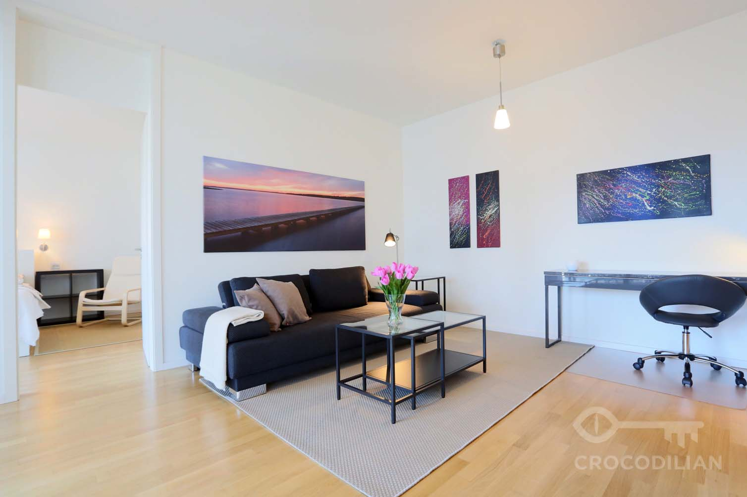 Modern Flair in Mitte:  2-Room Apartment with Balcony, Gartenstr.