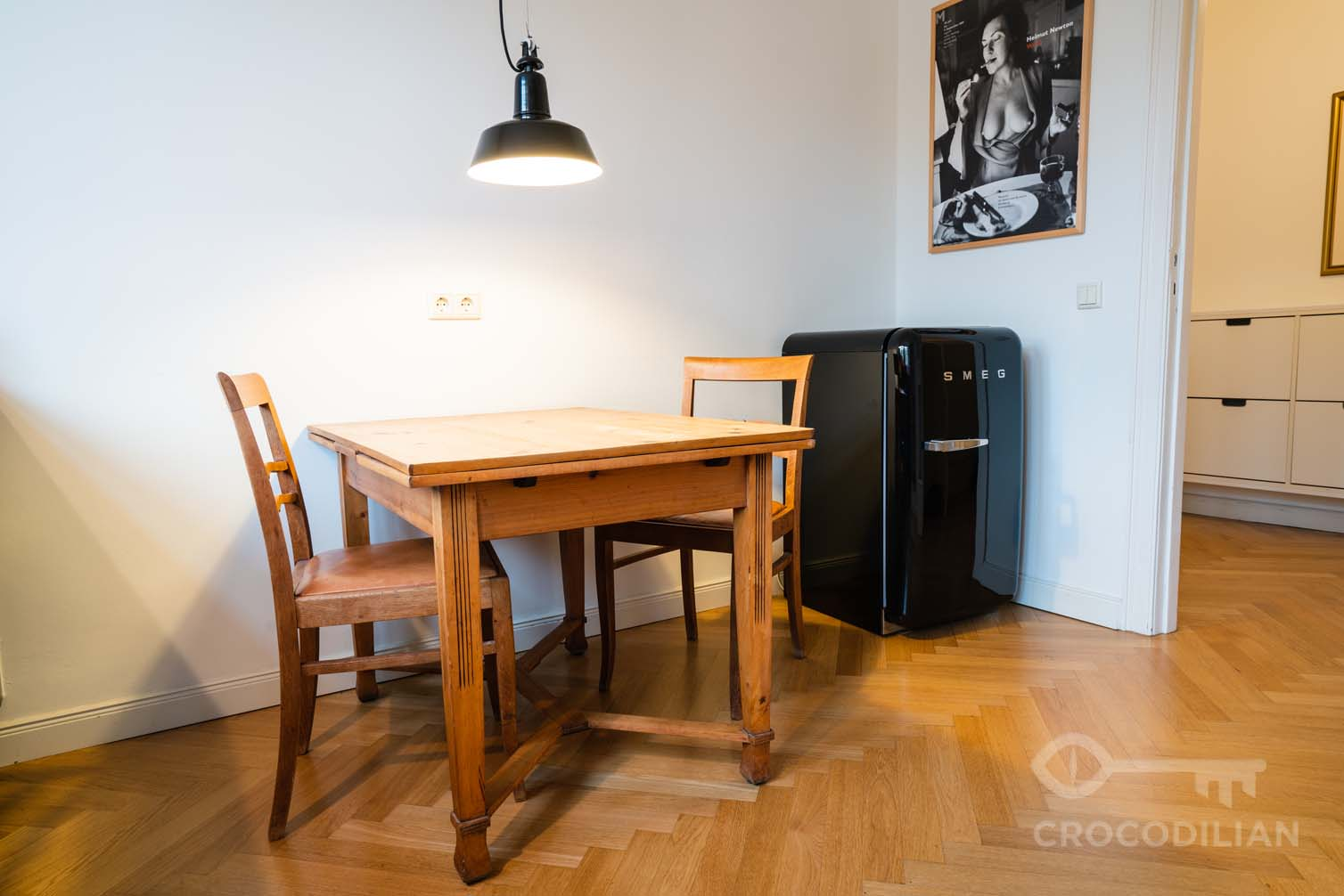 Beautifully designed two-room Friedrichshain apartment with a terrace and view