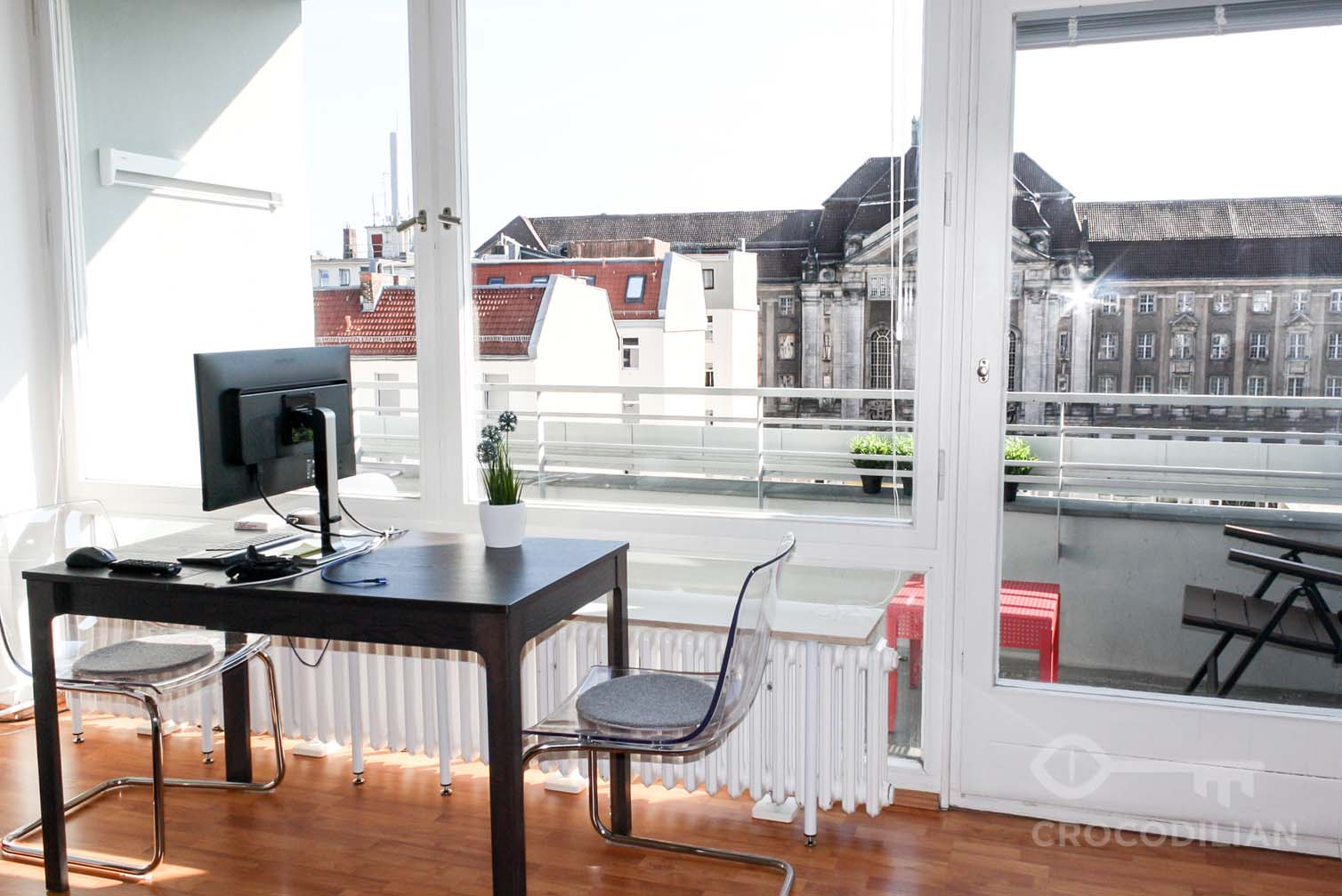 Stylish 1-Room Apartment with Loggia in Schöneberg