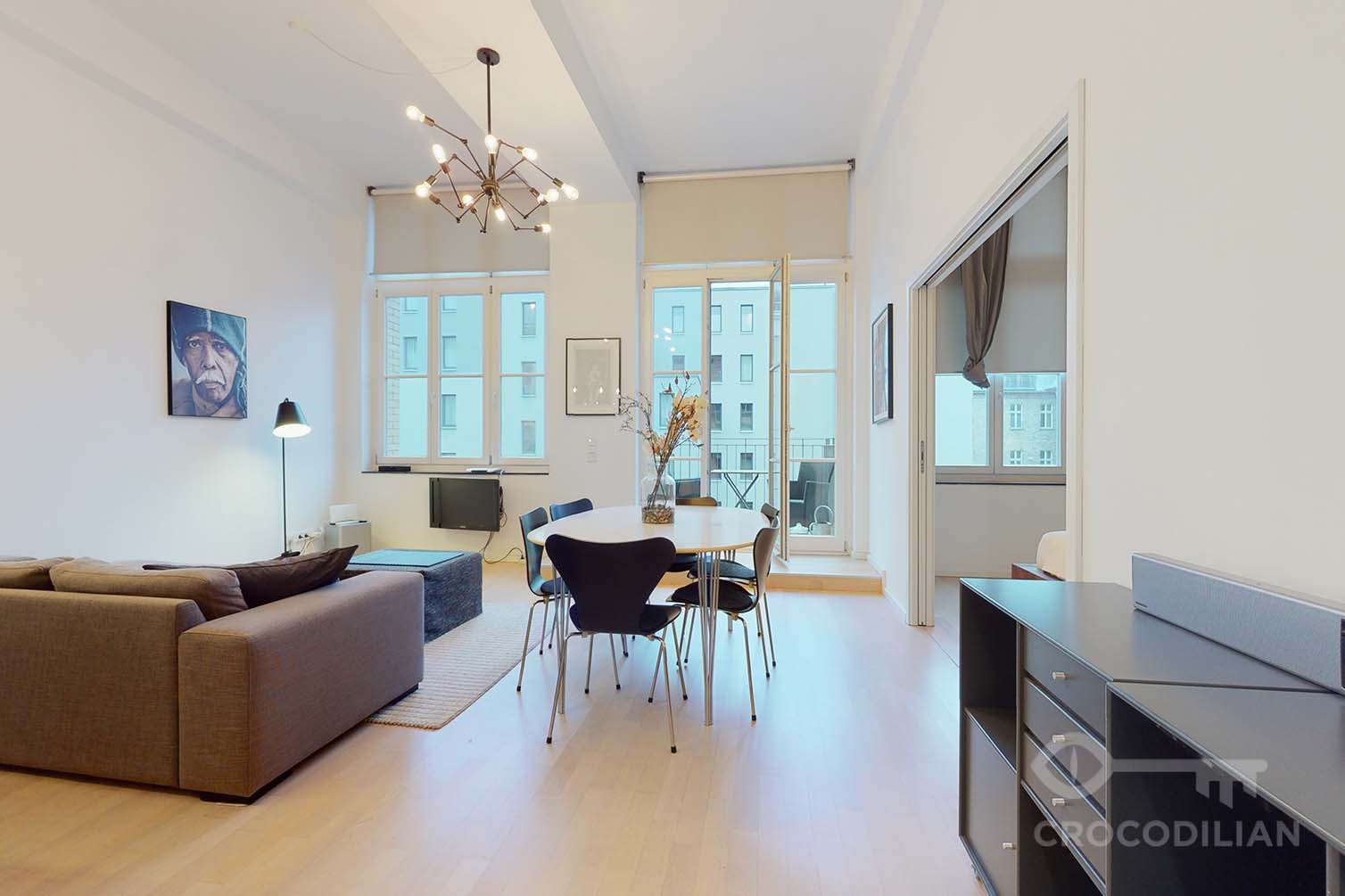 Beautiful loft style 2-room apartment in Mitte